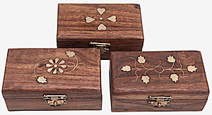 Inlaid Box x 3